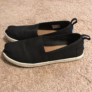 Toms Youth Black Mesh Shoes
